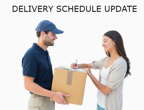 Delivery Schedule Update June 2019