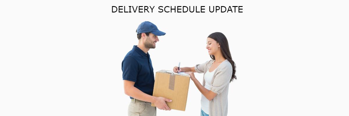 Delivery Schedule Update June 20192019