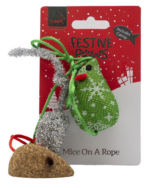 Festive Mice on a Rope
